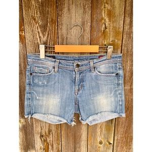 CITIZENS OF HUMANITY light wash cut off shorts